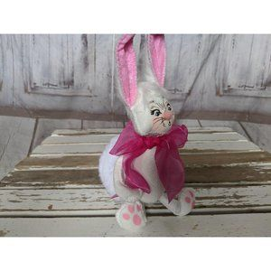 Annalee Holiday - Annalee Easter Spring Bunny Tails Fluffy White Big